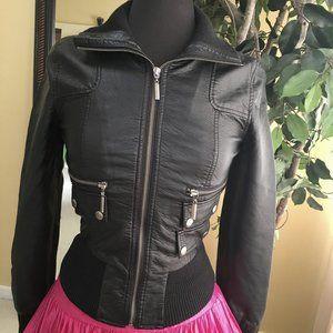 New Look Vegan Leather Jacket Size S